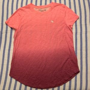 Abercrombie Kids Ombré Pink T-shirt Size 13-14
